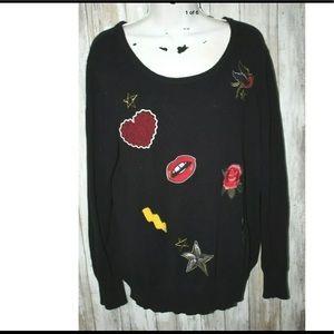 Torrid tattoo sweater size 1